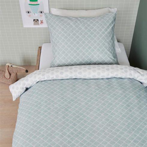 Lenjerie pat verde pentru o persoana Noolah