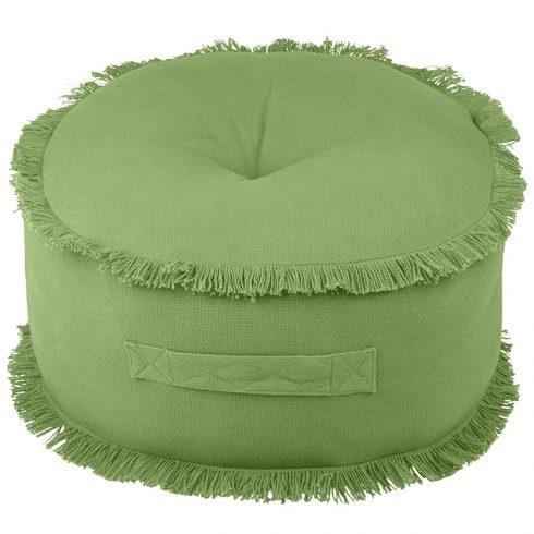 Perna podea rotunda verde