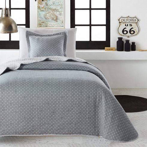Cuvertura pat 1 persoana gri cu stelute