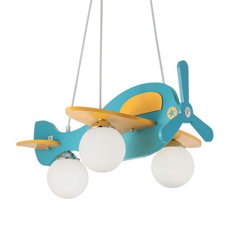 Lampa tavan camera baieti Avion bleu