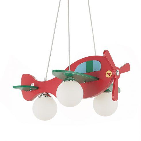 Lampa tavan camera baieti Avion rosu