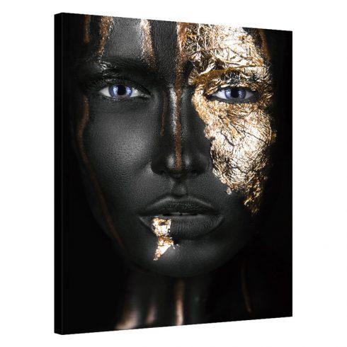 Tablou auriu cu negru Golden Face