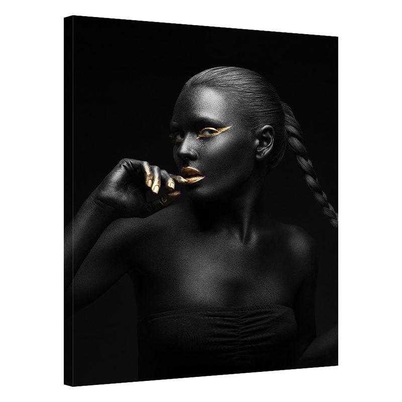 Tablou negru chip de femeie Shine