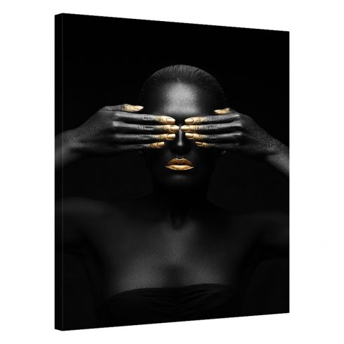 Tablou negru cu auriu femeie Blaze