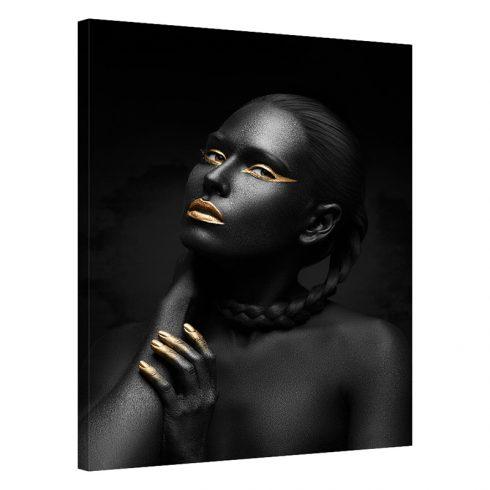Tablou negru cu auriu femeie Desire