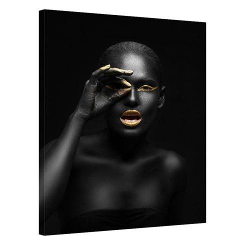 Tablou negru cu auriu femeie Sight