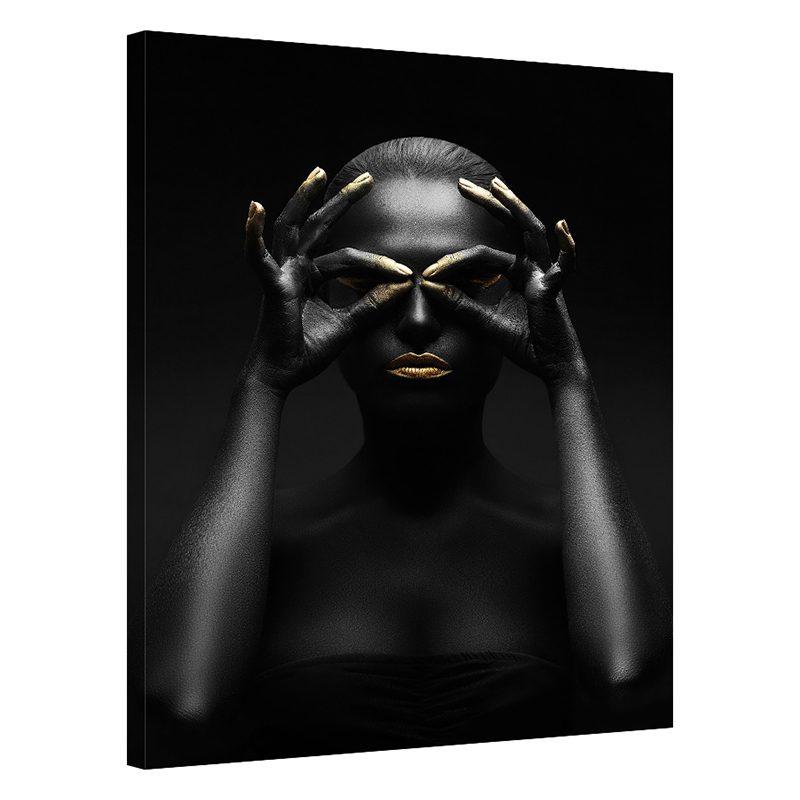 Tablou negru cu auriu femeie Vision