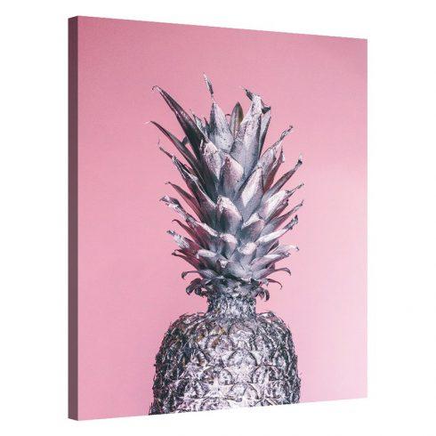 Tablou roz cu ananas argintiu