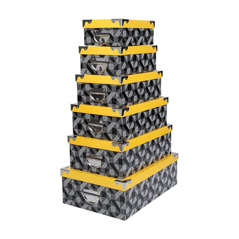 Set 6 cutii depozitare cu capac Beely