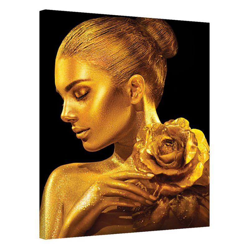 Tablou auriu modern Trandafir de Aur