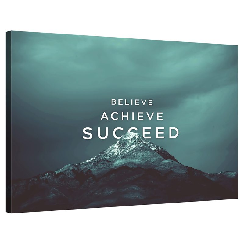 Tablou mesaj inspirational Believe