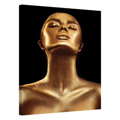 Tablou portret de femeie auriu Mandrie