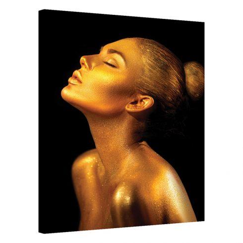 Tablou portret de femeie auriu Simturi