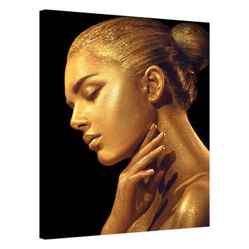 Tablou portret de femeie auriu Subtilitate