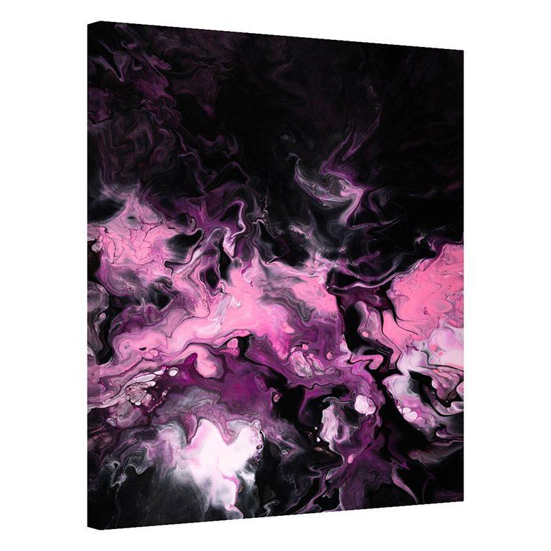 Tablou abstract negru cu roz Esente