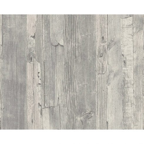 Tapet lemn gri rustic vlies