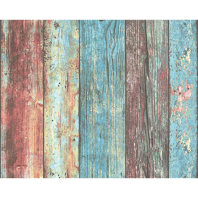 Tapet lemn vintage colorat