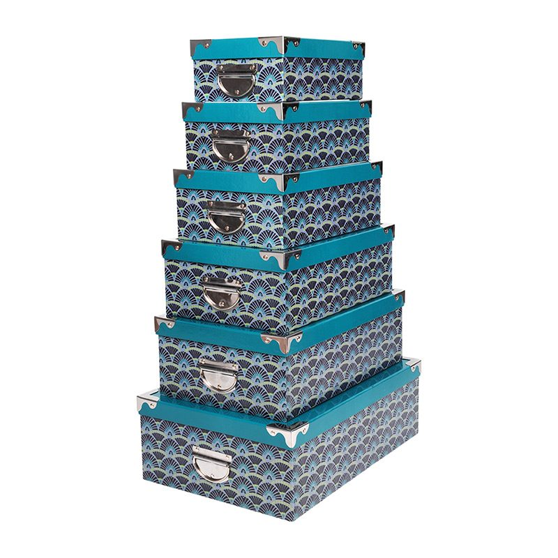 Set 6 cutii depozitare cu capac Guimard