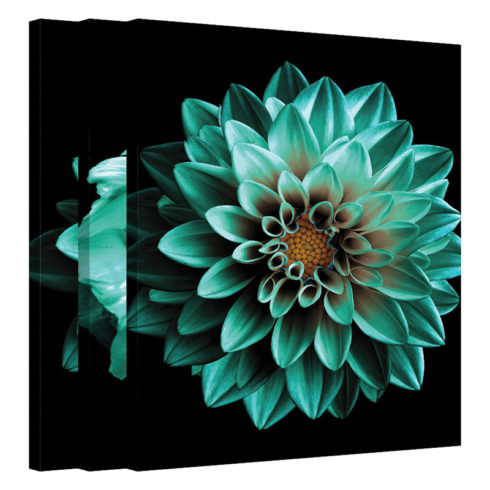 Set tablouri cu flori turcoaz Serenitate