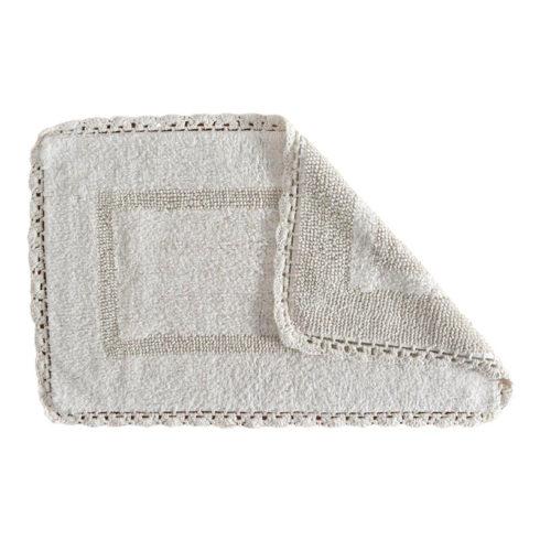 Covoras de baie alb Crochet