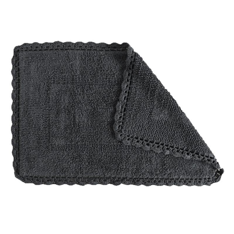 Covoras de baie gri Crochet