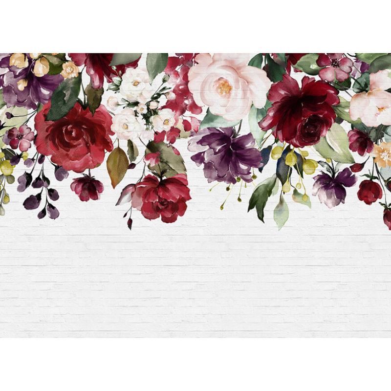 Fototapet ghirlanda de trandafiri colorati