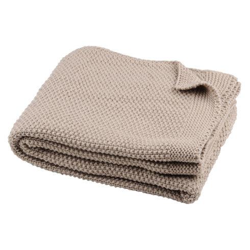 Pled tricotat bej Elliot