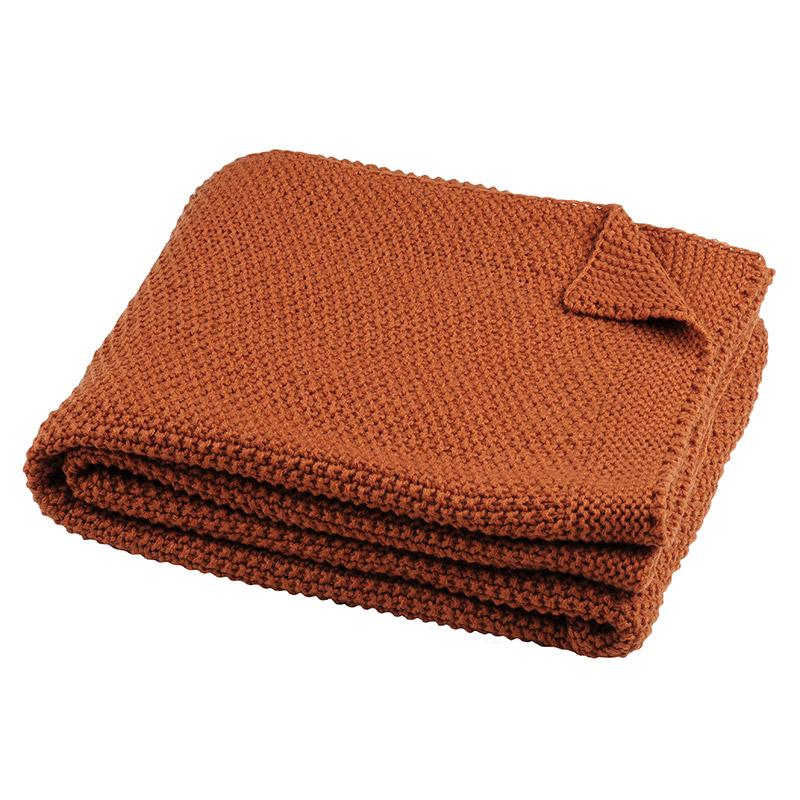 Pled tricotat caramiziu Elliot