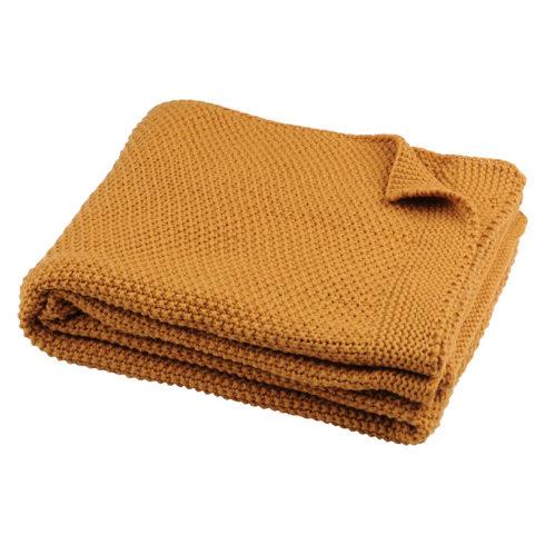 Pled tricotat galben Elliot