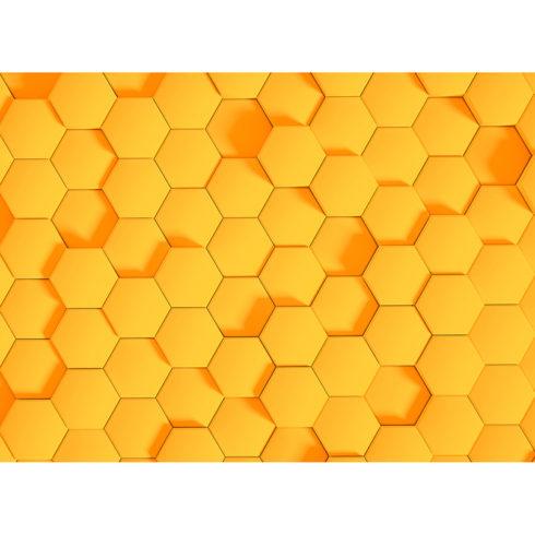 Fototapet efect 3D fagure galben vlies