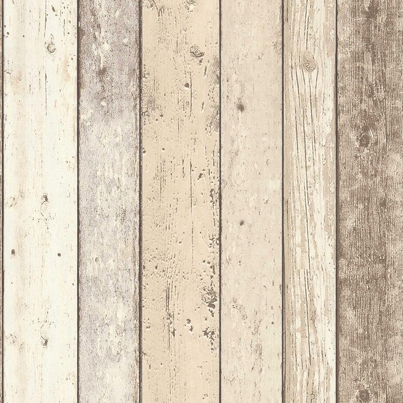 Tapet vlies lemn boho vintage bej