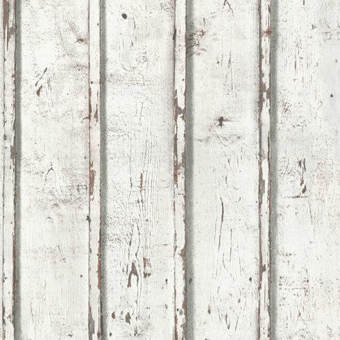 Tapet lemn alb rustic AS Creation