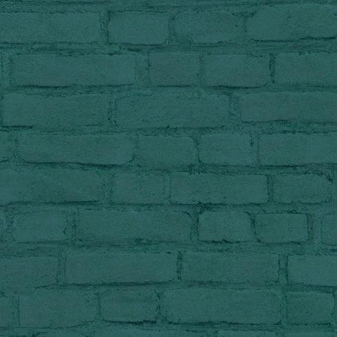 Tapet caramida verde vlies