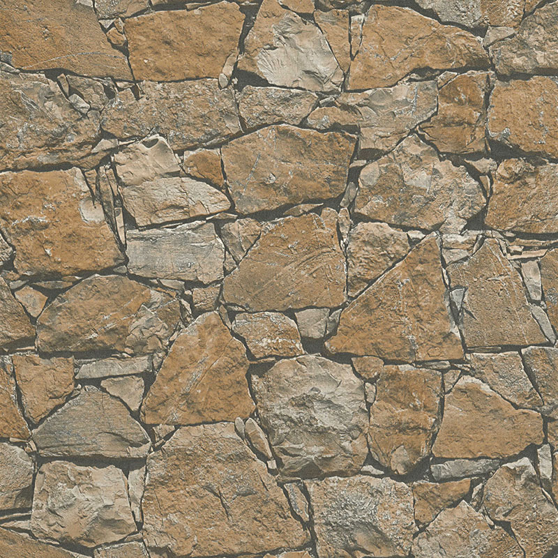 Tapet imitatie piatra de rau rustica