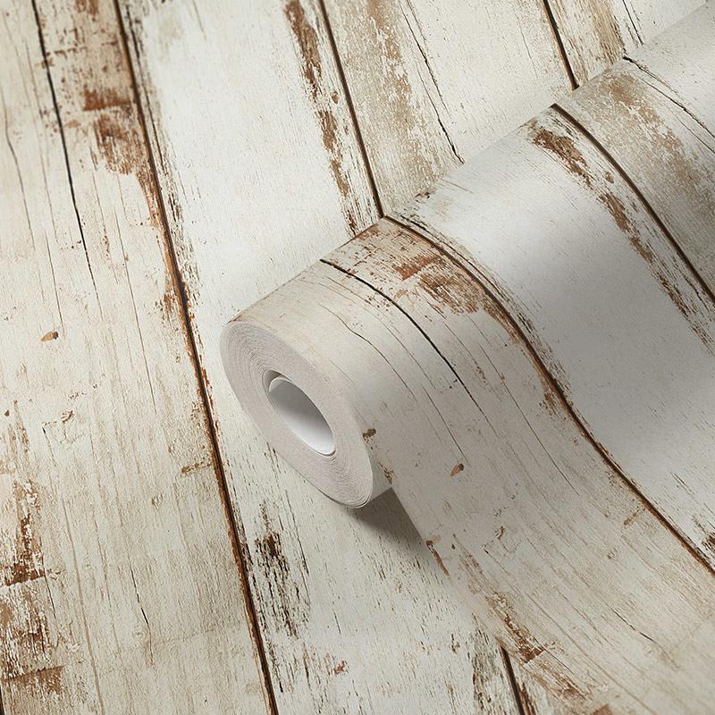 Tapet lemn alb vintage vlies