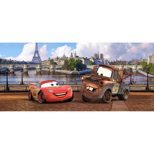 Fototapet Cars - Fulger McQueen in Paris