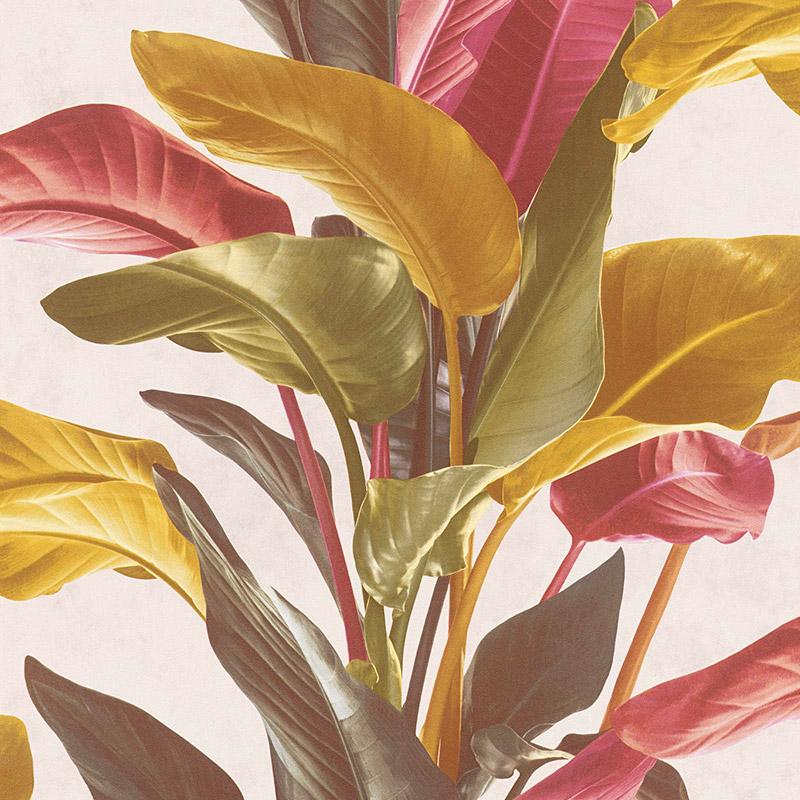 Tapet frunze exotice vlies