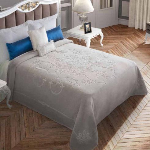 Cuvertura dormitor embosata gri
