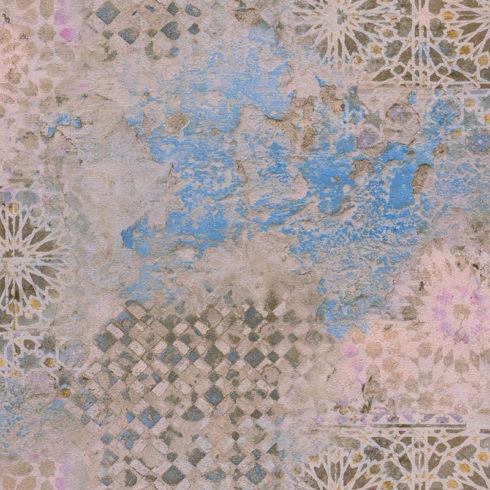 Tapet decorativ mozaic vintage bleu