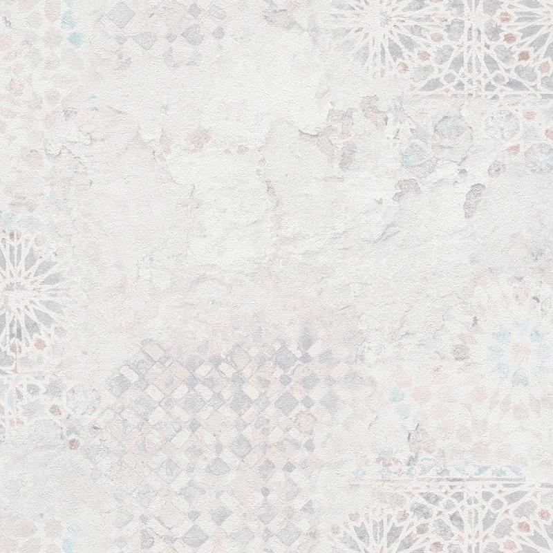 Tapet decorativ mozaic vintage crem