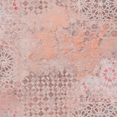 Tapet decorativ mozaic vintage oranj