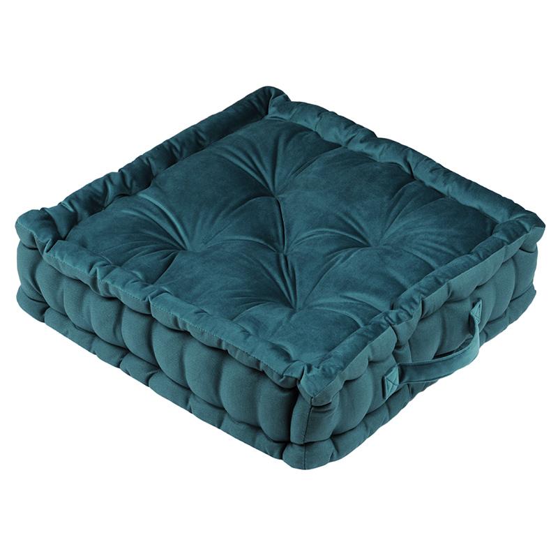 Perna podea catifea albastra Tania