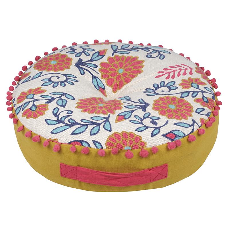 Perna podea rotunda cu flori Anya