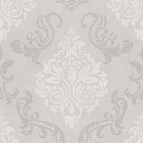 Tapet gri argintiu stil baroc vlies