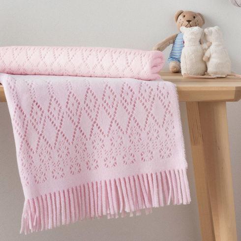 Paturica bebe bumbac roz