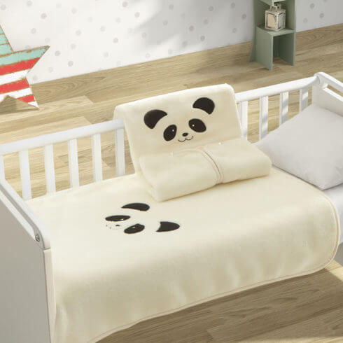 Sac de dormit bebelusi crem Panda