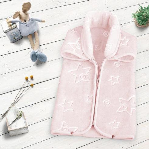 Sac dormit bebelusi roz cu stelute