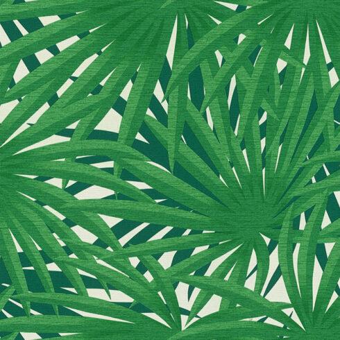 Tapet cu frunze exotice verzi